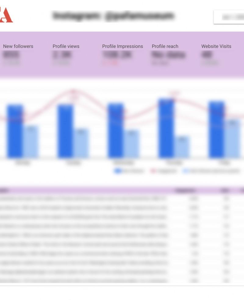 Custom analytics dashboards for Pennsylvania Academy of the Fine Arts (PAFA) using Google Data Studio with Supermetrics integration.